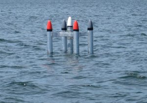 Buoy with five points deployed in Narragansett Bay
