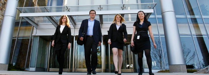 Four MBA students at Fidelity Investments