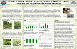 ability of monarch butterfly larvae to utilize a diet containing VN
