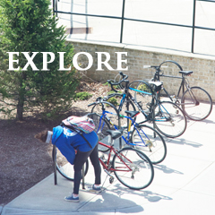 student with several bikes