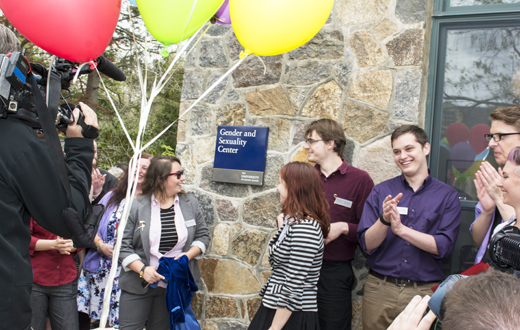 scene from the opening of the URI gender and sexuality center