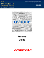 Resume Cover Letter Guide PDF Download