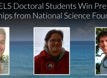 Three URI doctoral students win prestigious fellowships from National Science Foundation