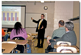 Ross University officials brief CELS students