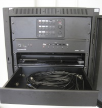 VGA and HDMI Input cables are located in the pull-out drawer