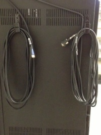 VGA and HDMI Input cables are located on the side of the media rack