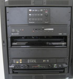 Digital Media Rack with Assisted Listening Equipment