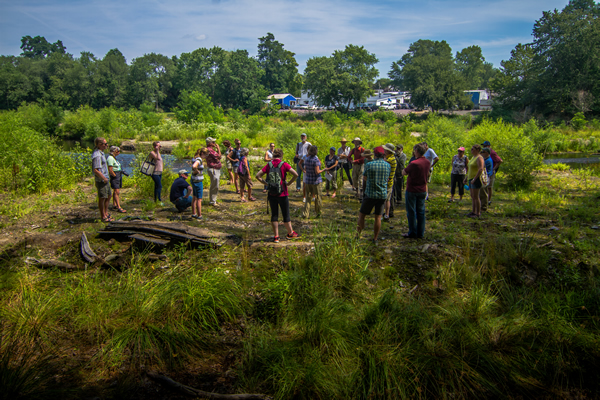 CI Senior Fellows at a dam removal site in Taunton, Massachusetts.