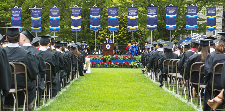 main commencement ceremony on the quad
