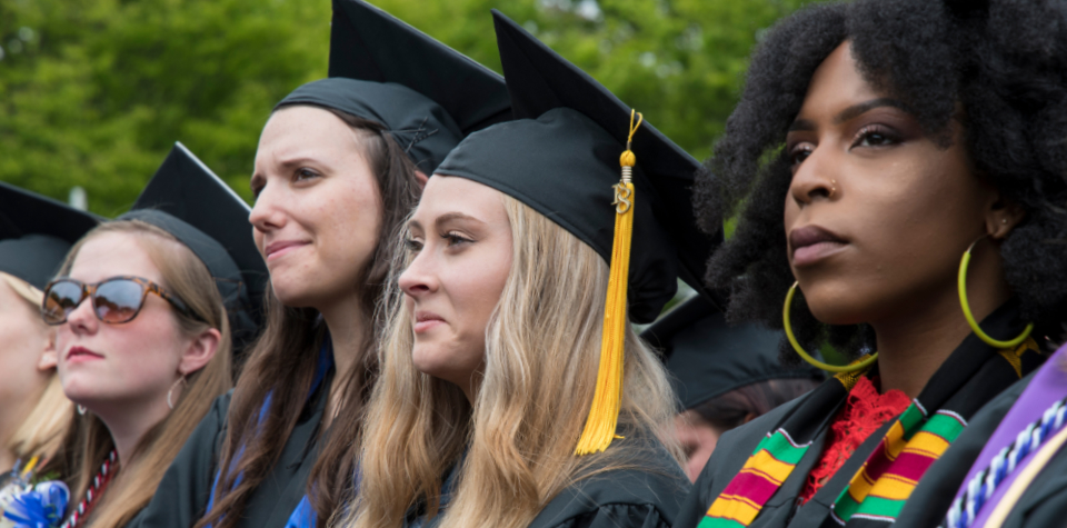 students during main commencement