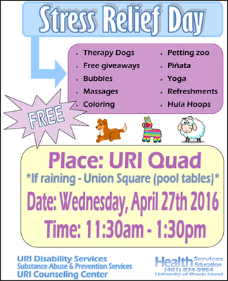 Stress Relief Day 04/27/16