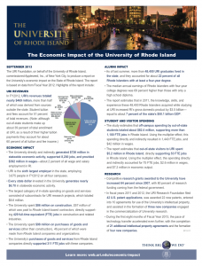 one-page economic impact highlights