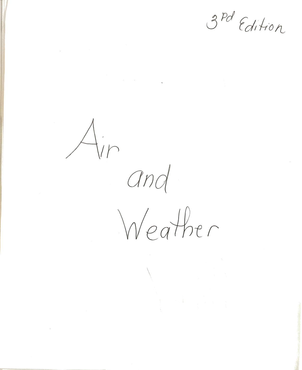 Air and Weather Teacher Model Notebook