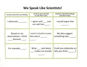 Speaking like scientists