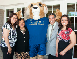 international alumni with Rhody the Ram