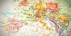map of Europe and surrounding countries