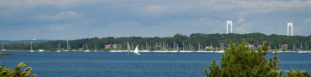 Photo of Narragansett Bay as seen from GSO.
