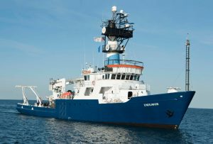 The RV Endeavor, the University of Rhode Island's research vessel. Photo courtesy of the Inner Space Center. The RV Endeavor, the University of Rhode Island's research vessel. Photo courtesy of the Inner Space Center.