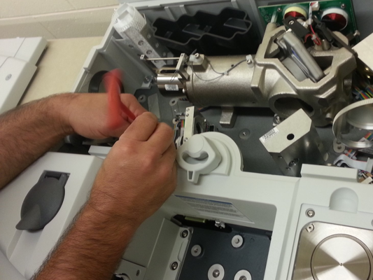 Tuning up the new FTIR system