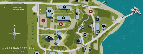 uri map of campus Directions And Campus Map Graduate School Of Oceanography uri map of campus