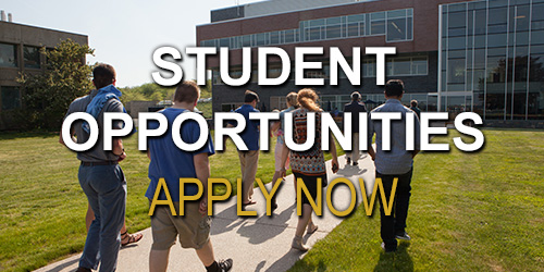 Student Opportunities - Apply Now button.