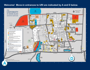 uri map of campus Fayerweather Hall Move In Directions Housing And Residential Life uri map of campus