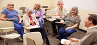 older adults in a classroom