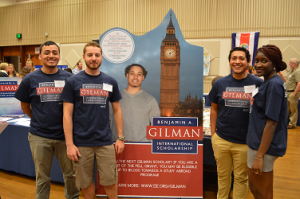 URI Gilman Scholars promoting the program at our annual Study Abroad Fair.