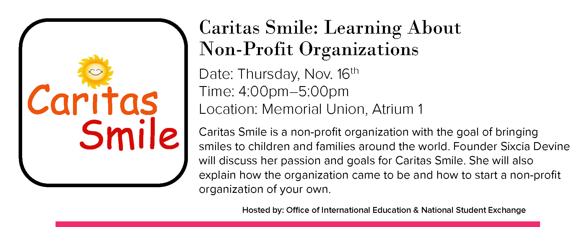 Caritas Smile Learning about Non-Profit Organizations
