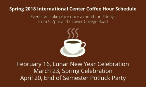 Coffee Hour Events Schedule
