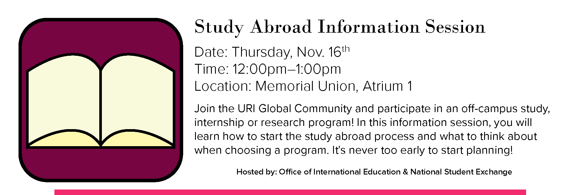 Study Abroad Info Session Event