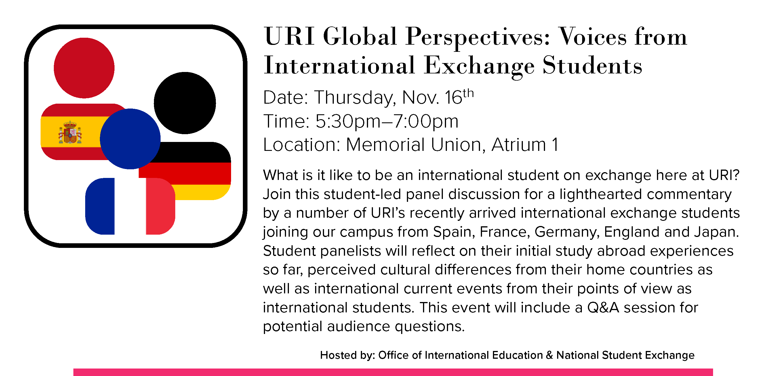 URI Global Perspectives: Voices from International Exchange Students Event
