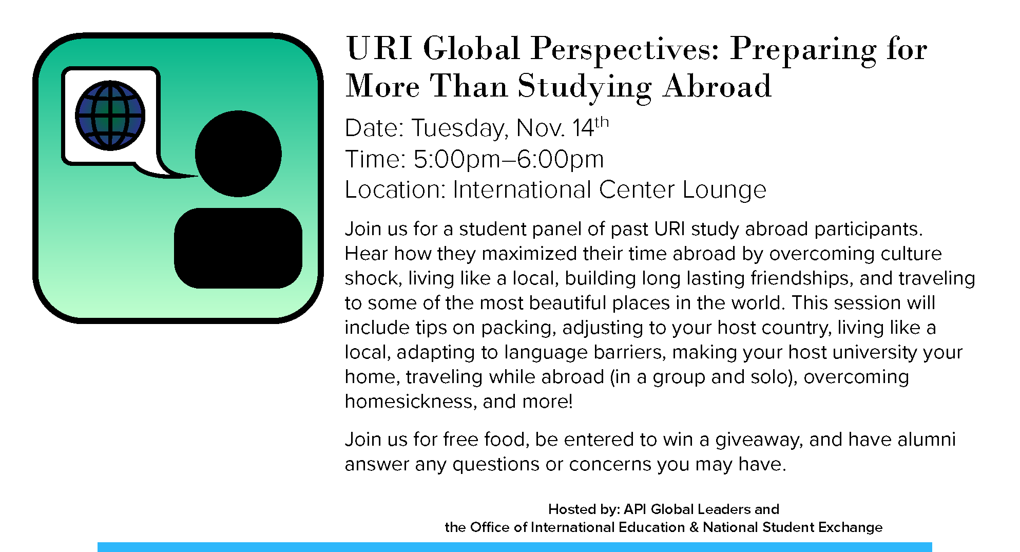 URI Global Perspectives: Preparing for More Than Studying Abroad Event
