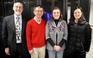 Pictured from the left: Garry Bozylinsky, Yang Shen, Terry Wild, and Ying Zhang