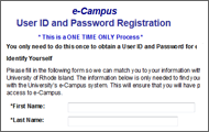 newsletter ecampus password icon