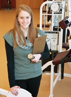 Jessica Russo at her physical therapy clinic internship
