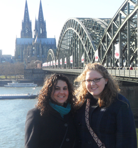 two students studying abroad in Germany