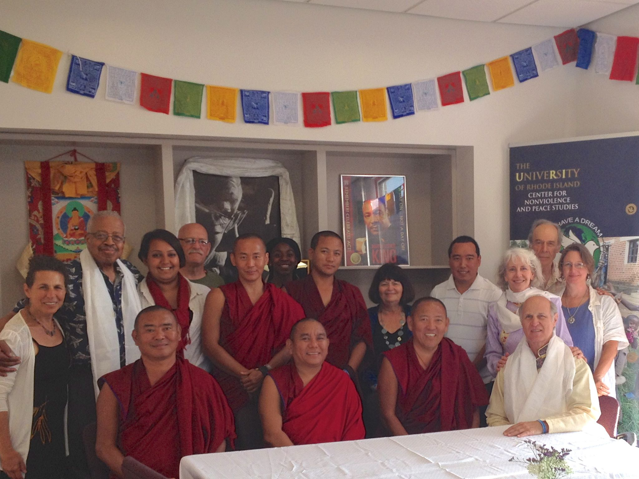 Dinner with Monks Photo
