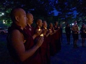 Candlelight Vigil Honored Victims of Violence on URI Peace Day 2017