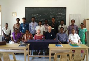 Meeting with graduate students in Tamil Nadu, India
