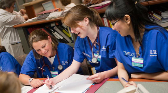 nursing students collaborating