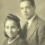 Denard James and Rosa Thomas Pinderhughes around the time of their 1942 wedding