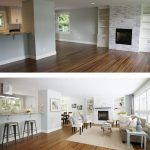 Before and after: Brito works her magic on an empty house.