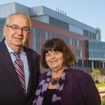 Richard Beaupre '62 with Winnie Brownell, Dean of the College of Arts and Sciences