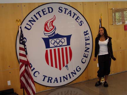 This is me inside the Olympic Trainer Center just after we pulled into Colorado Springs.