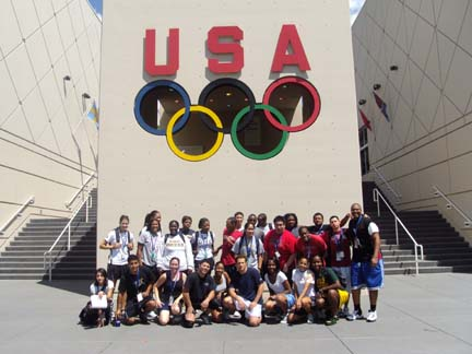 The F.L.A.M.E. participants outside the Olympic Training Center.