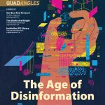 Illustration of the cover story The Age of Disinformation