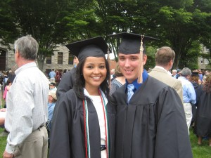 Pam and Ryan at their 2010 graduation from URI