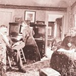 Bernon and Mary Helme with their mother, at home in Kingston in an undated photo.