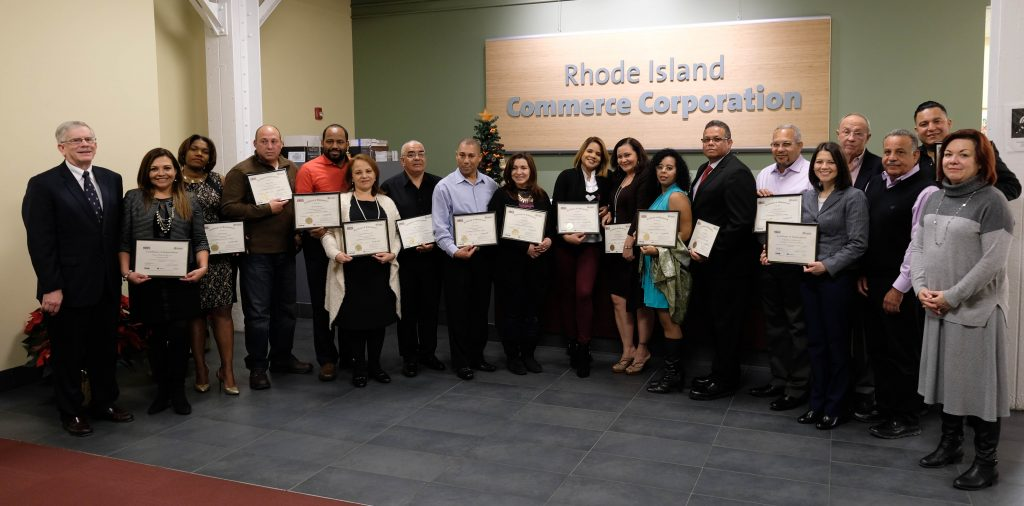 Primer Paso graduation and reception at Commerce RI in Providence, R.I. on Tuesday, Dec. 6, 2016.
